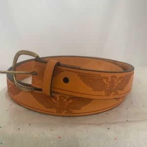 Other - Genuine Leather Tan Belt w/ American eagle Design